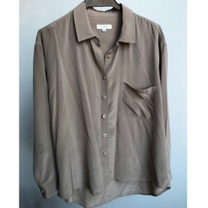 Equipment Silk Taupe Blouse